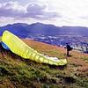 Latrigg : Paraglider Preparing To Launch (4)