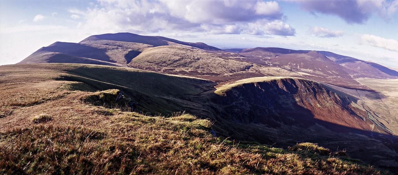 Lonscale Fell : Burnt Horse and Skiddaw