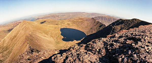 Helvellyn : Red Tarn From The Top Of Swirral Edge