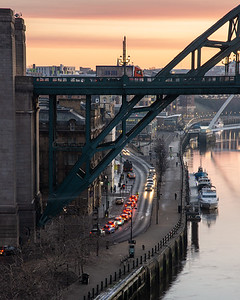 Traffic on the Tyne Bridge