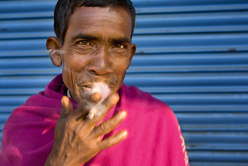 Man smoking, Tezpur. Assam.