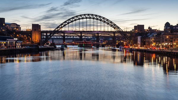 Tyne Bridges at dusk