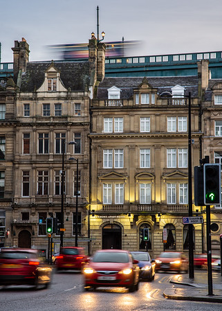 Rush hour in Newcastle