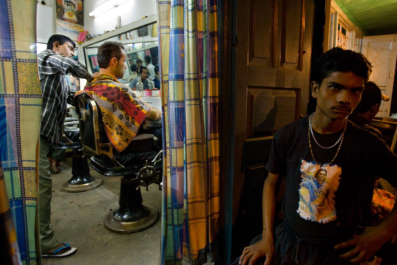 Barber shop. Guwahati. Assam.