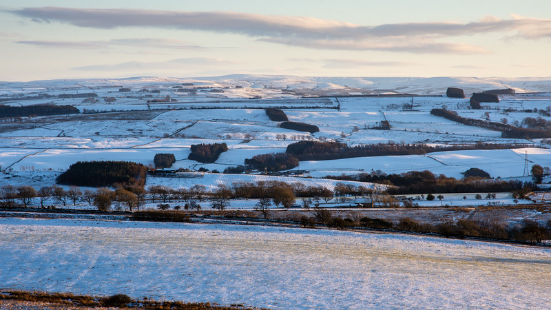 Tyne Valley and North Pennines in snow