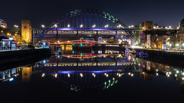 Tyne riverside and bridges