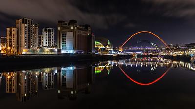 Gateshead Quays at night