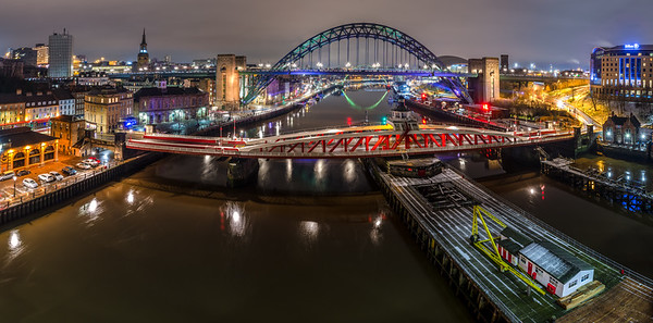 Newcastle and Gateshead cityscape
