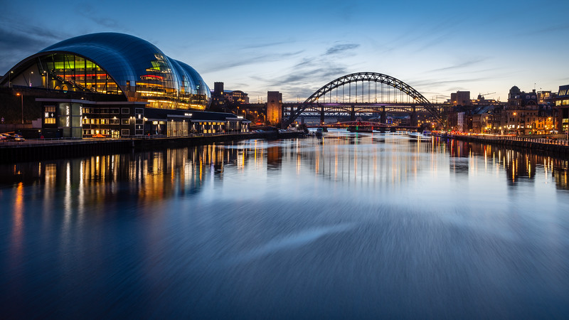 Sage Gateshead and the Tyne Bridges