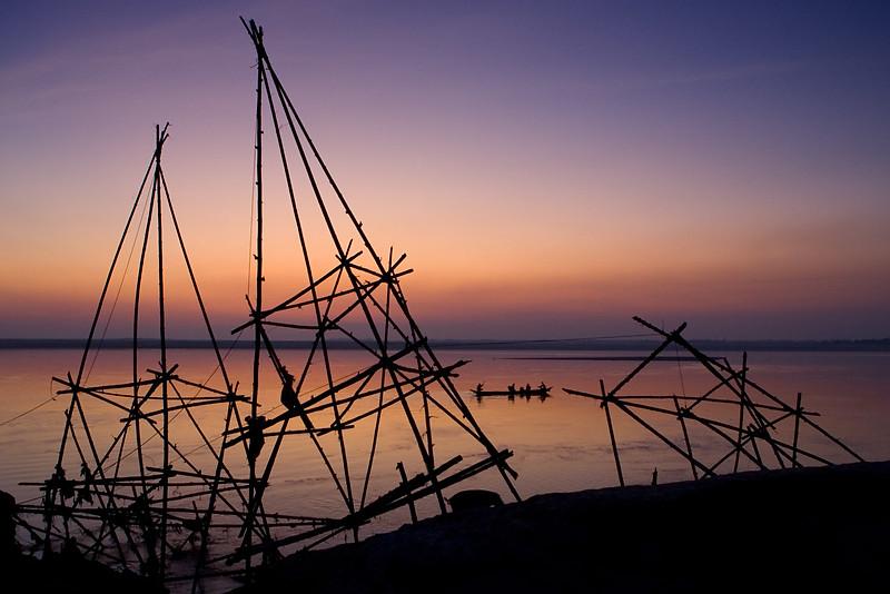 Majuli island. Assam.