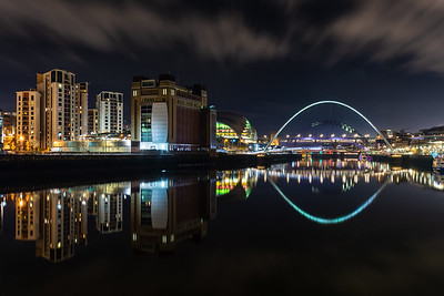Gateshead Millennium Bridge and riverside