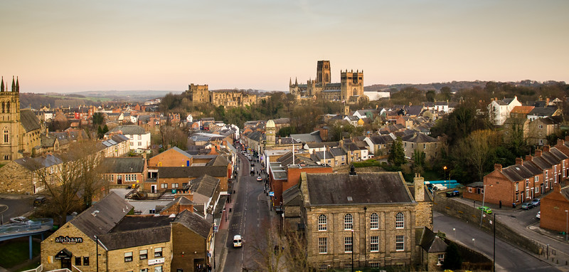 Durham city, castle and cathedral from the railway