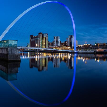 Gateshead Millennium Bridge and Baltic Quay