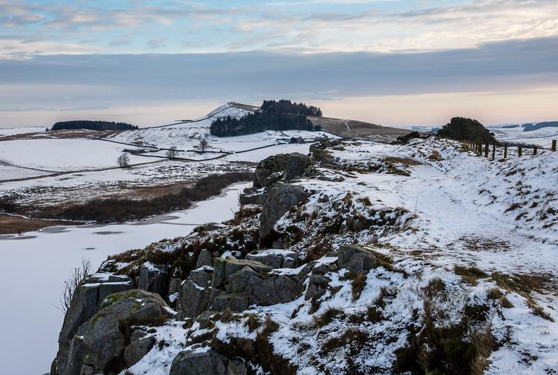Snow on Hadrian's Wall