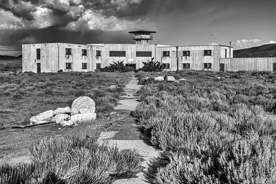 Prison Building (B/W), North Facility, Wyoming State Penitentiary, Rawlins, WY.