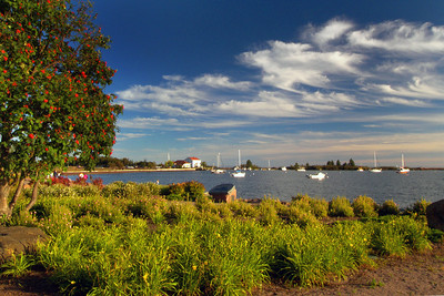 """Grand Marais Afternoon"" Title: Grand Marais Afternoon. This bucolic image was created on a beautiful late August  Sunday afternoon not long  before sunset in the harbor of Grand Marais."