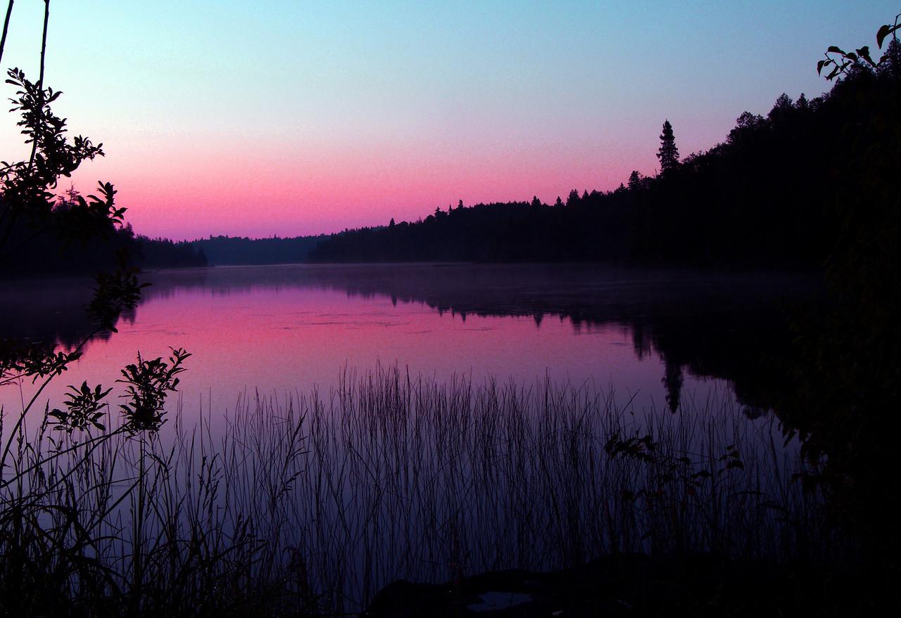 """Ball Lake Sunrise"" Boundry Waters Conoe Area Wilderness, Northern Minnesota."