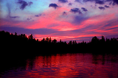 """Ball Lake Sunset"" This lovely sunset was photographed on Ball Lake on the edge of the Boundry Waters Conoe Area Wilderness, Northern Minnesota."