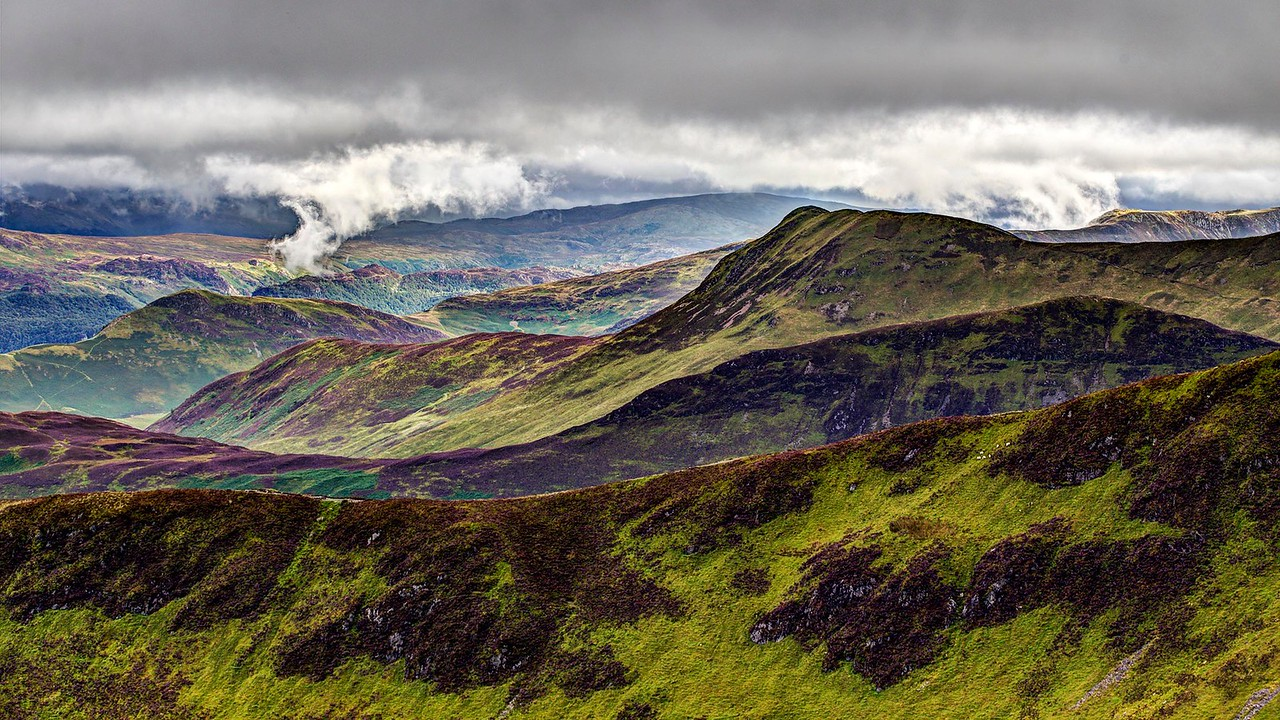 Causey Pike and Hanging Cloud over Grange Fell