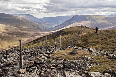 Great Calva Summit : Helvellyn, Thirlmere And Lonscale Fell