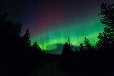 Sunset Auroral Curtain