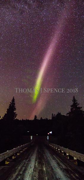 Aurora near Tofte, Minnesota - September 1st, 2016