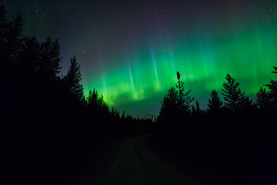 Sunset Road Northern Lights