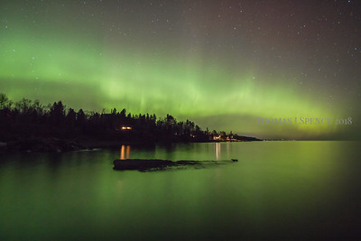 Lake Superior and the Northern Lights in Schroeder, MN April 2015