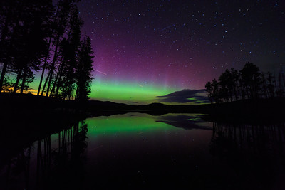 Ellis Reservoir Auroras 2015