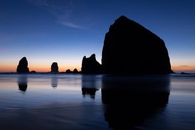 Haystack Rock Blue Hour