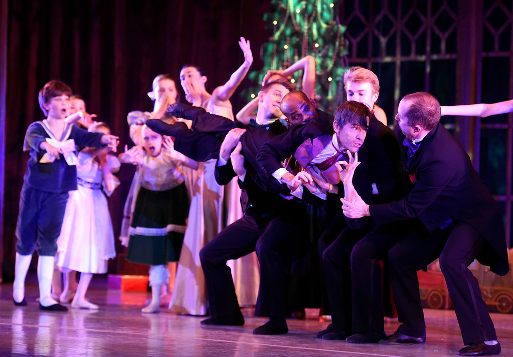 . BOULDER, CO - NOVEMBER 29, 2018: Clara\'s father, played by Lance Hardin, performs with others during a sensory-sensitive rehearsal for The Nutcracker on Thursday night at Skyline High School in Longmont. The performance is by the Boulder Ballet and the Longmont Symphony. For more photos of the rehearsal go to dailycamera.com (Photo by Jeremy Papasso/Staff Photographer)