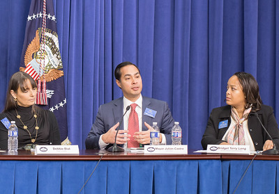 Debbie Bial, Julián Castro,  Bridget Terry Long