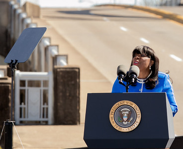 Congresswoman Terri Sewell, 7th District delivers remarks in Selma, Alabama, on March 7, 2015
