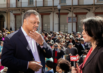 CNN's Fredricka Whitfield interviews Jesse Jackson, in Selma, Alabama, on March 7, 2015