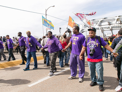 "The men of Omega Psi Phi are holding the front line and protecting the ""Foot Soldiers""."