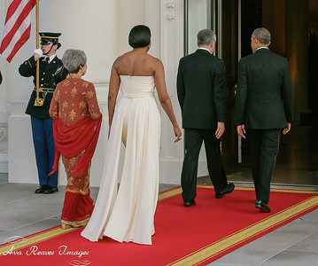 The Party Enters the White House for the Singapore State Dinner