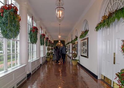 Holiday Wreathes in the East Colonnade