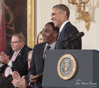 William Howard Accepts Medal of Freedom for Shirley Chisholm