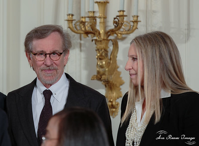 Steven Spielberg and Barbara Streisand