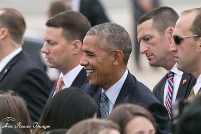 President Obama Greets Guest