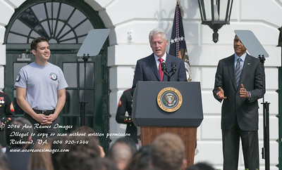 President Bill Clinton and President Barack Obama