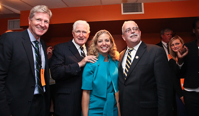 Brian Moran, Cong. Jim Moran, Debbie Wasserman-Schultz & Cong. Gerry Connolly at DPVA Fundraiser in Arlington, Virginia