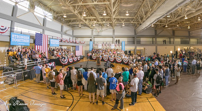 The Crowd Waits for Hillary Clinton