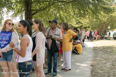 Students In Line to Attend the Hillary Clinton Rally