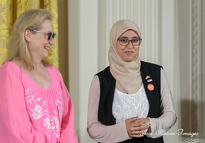Meryl Streep and Karime Lakouz