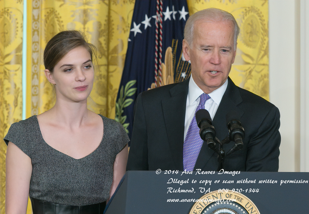 Lilly Jay and VP Joe Biden