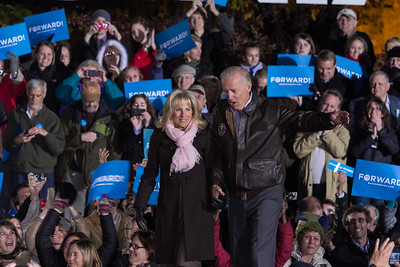 Dr. Jill Biden & Vice President Joe Biden Joe Biden Rally at Historic Tredegar