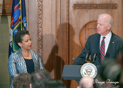 Loretta Lynch and VP Joe Biden