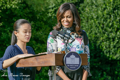 Tammy Nguyen and Michelle Obama