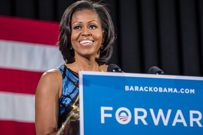 First Lady Michelle Obama all  Smiles!
